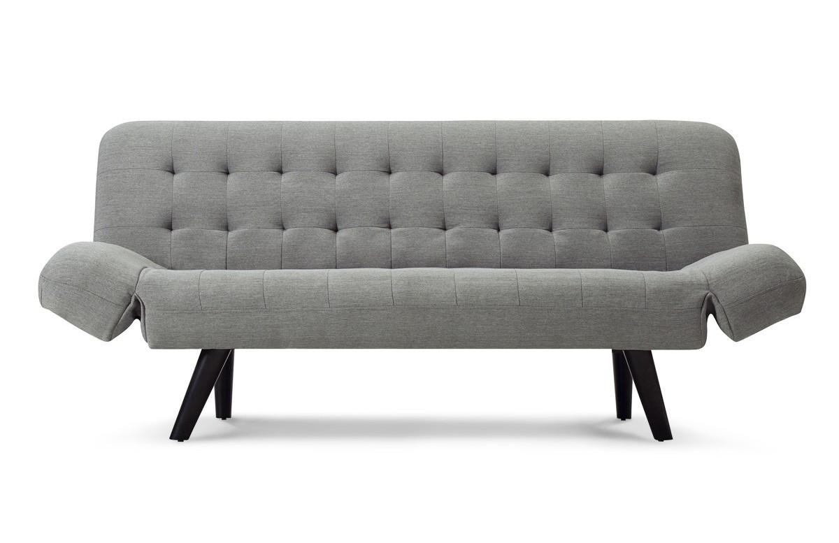 Canapé convertible en lin gris