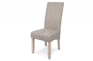 Lot de 2 chaises de séjour tissu SAGUA couleur naturel/beige