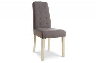 Lot de 2 chaises de séjour ALVIS couleur taupe