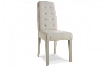 Lot de 2 chaises de séjour ALVIS couleur beige