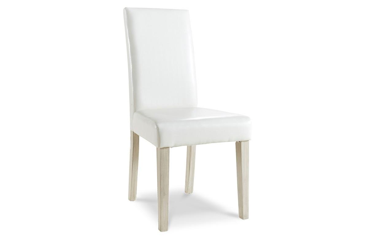 Lot de 2 chaises de sejour couleur blanc