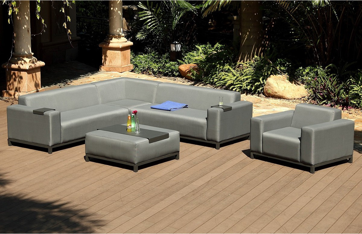 Best salon de jardin textilene gris contemporary amazing for Salon de jardin en granit