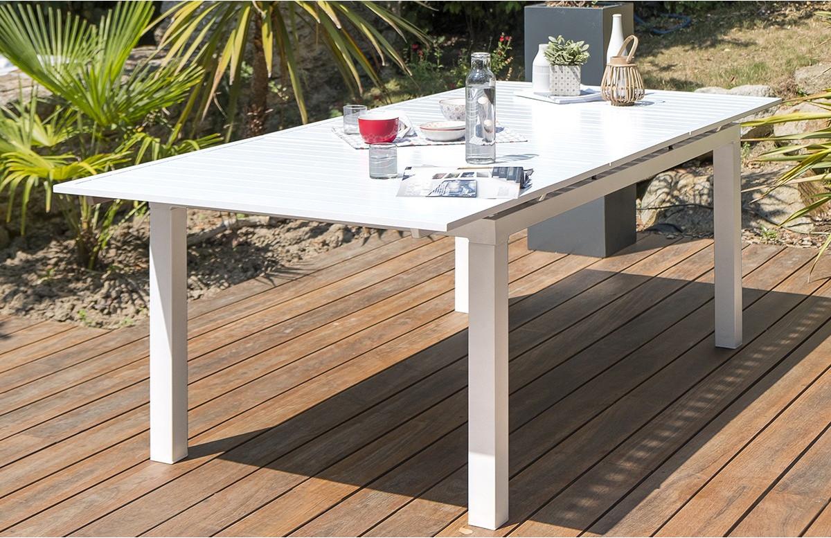 Table salon de jardin extensible en aluminium pour 7 personnes DCB Garden  MYKONOS