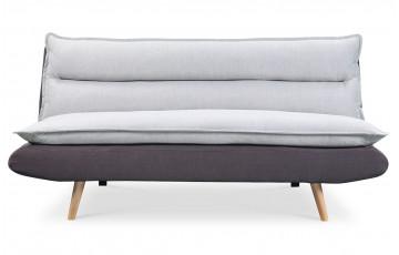 Canapé convertible gris et gris - JUDE