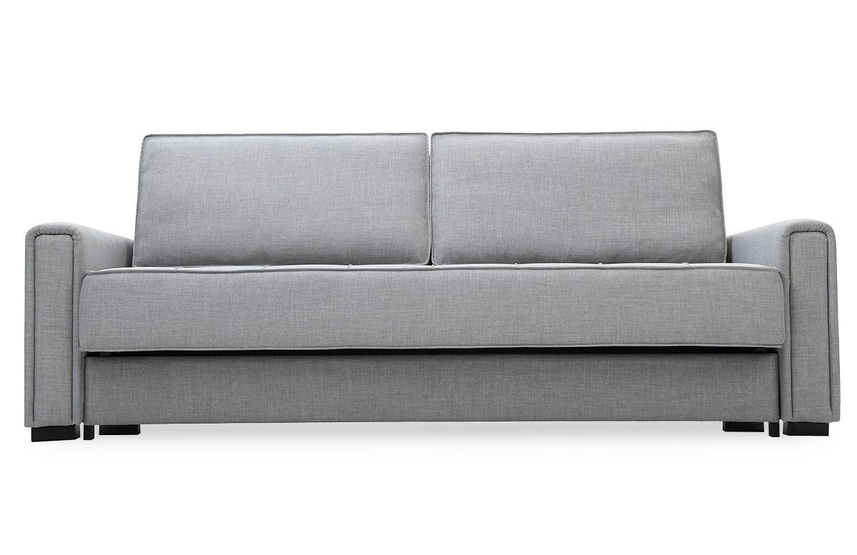 Canapé convertible en tissu 3 places House & Garden gris ICARE