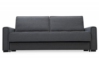 Canapé convertible en tissu 3 places House & Garden noir ICARE