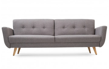 Canapé convertible en tissu 3 places House & Garden gris HANTZ
