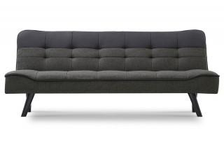 Canapé convertible REKJVI noir et gris