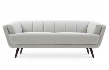 Canapé fixe en tissu 3 places House & Garden gris EDGAR