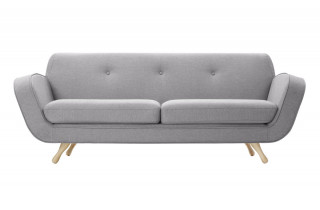 Canapé fixe en tissu 3 places House & Garden gris VESPER