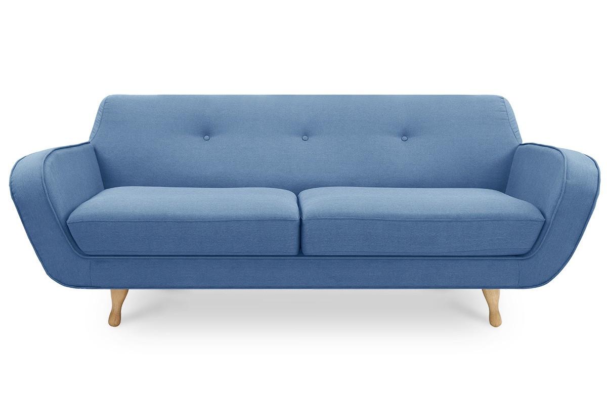 Canapé fixe VESPER bleu