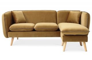 Canapé d'angle modulable DOLLY beige