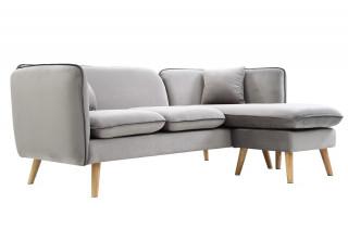 Canapé d'angle modulable DOLLY gris clair