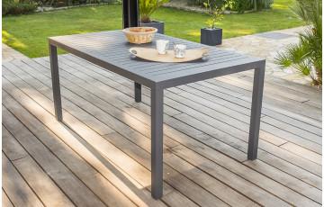 Table salon de jardin 6 personnes en aluminium anthracite DCB Garden MIAMI