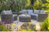 Salon de jardin design bas en résine tressée DCB Garden 8 places gris NOUMEA