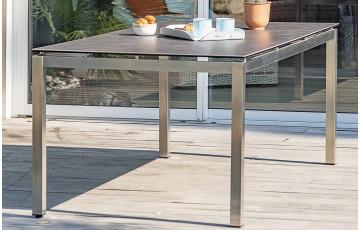 Table TORINO plateau céramique 8 places