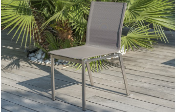 Chaise TORINO coloris taupe