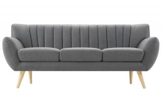 Canapé fixe en tissu House & Garden 3 places gris OSLO