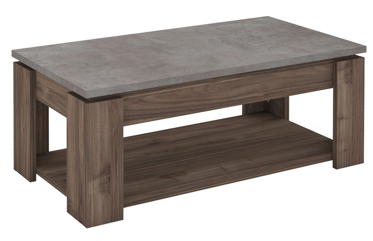 Table basse CORDOUE couleur noyer ambassador