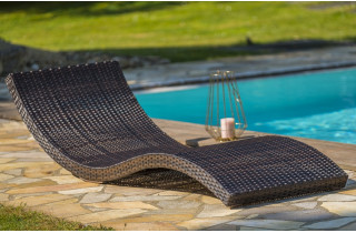 Bain de soleil design en résine tressée DCB Garden CANCUN