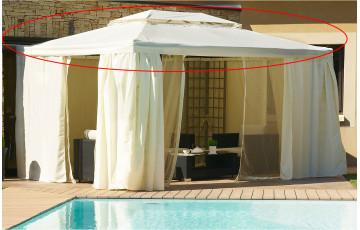 Toile de toit pour tonnelle 4x3 m