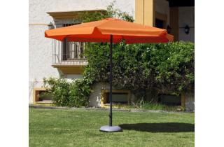 Parasol de jardin 3m droit à manivelle ORANGE Hevea