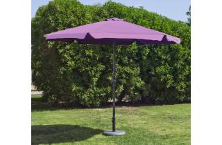 Parasol de jardin haut de gamme 3m droit à manivelle LILA Hevea