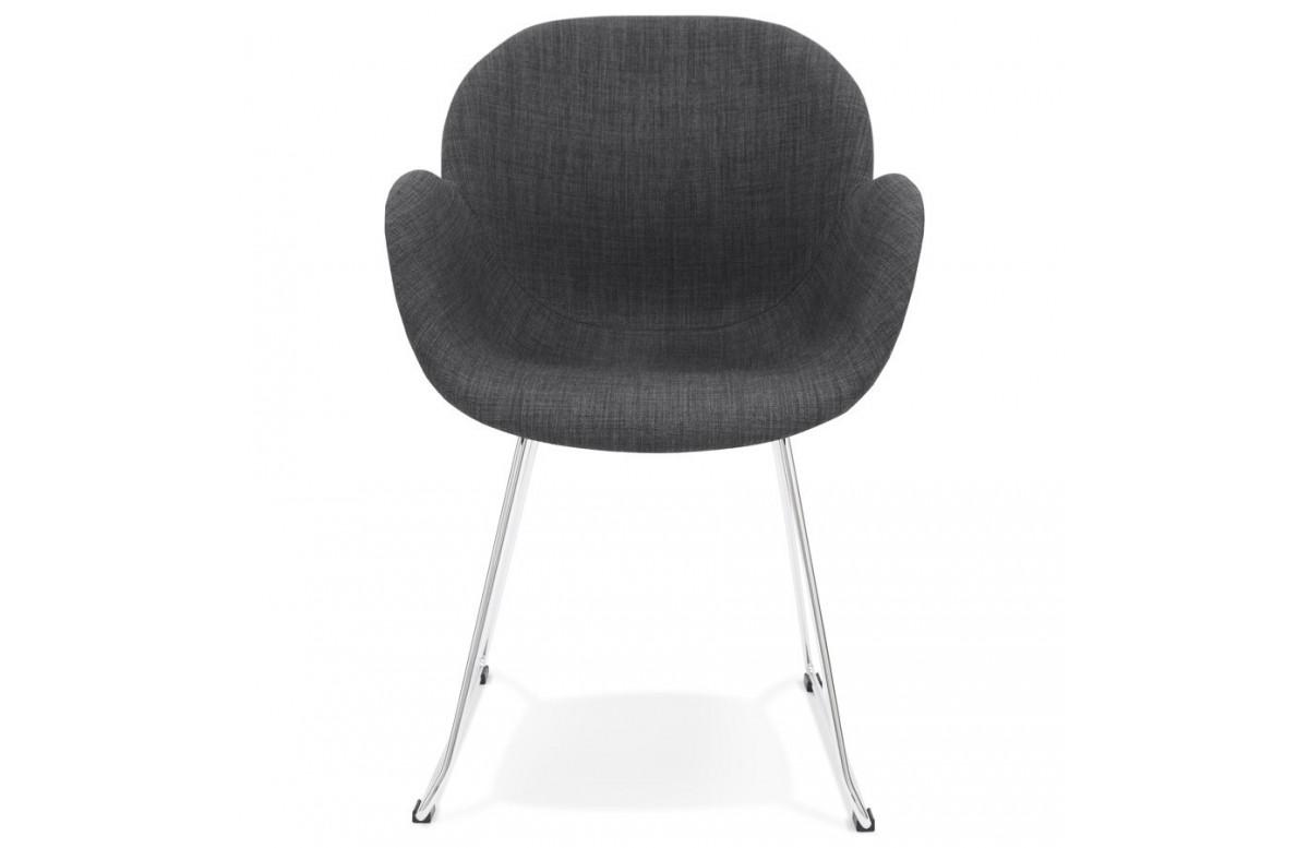 Chaise noire design moderne - Texina