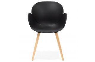 Chaise noire avec pieds en bois - Sitwel