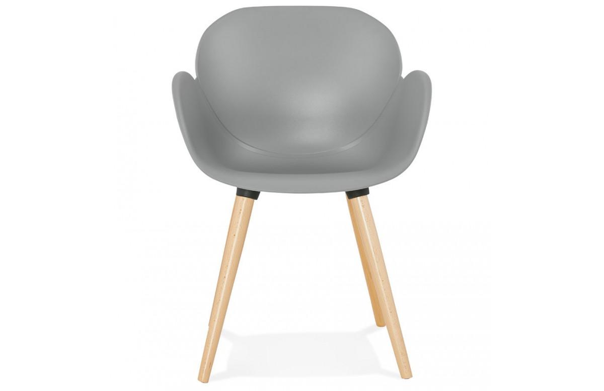 Chaise grise pieds en bois - Sitwel