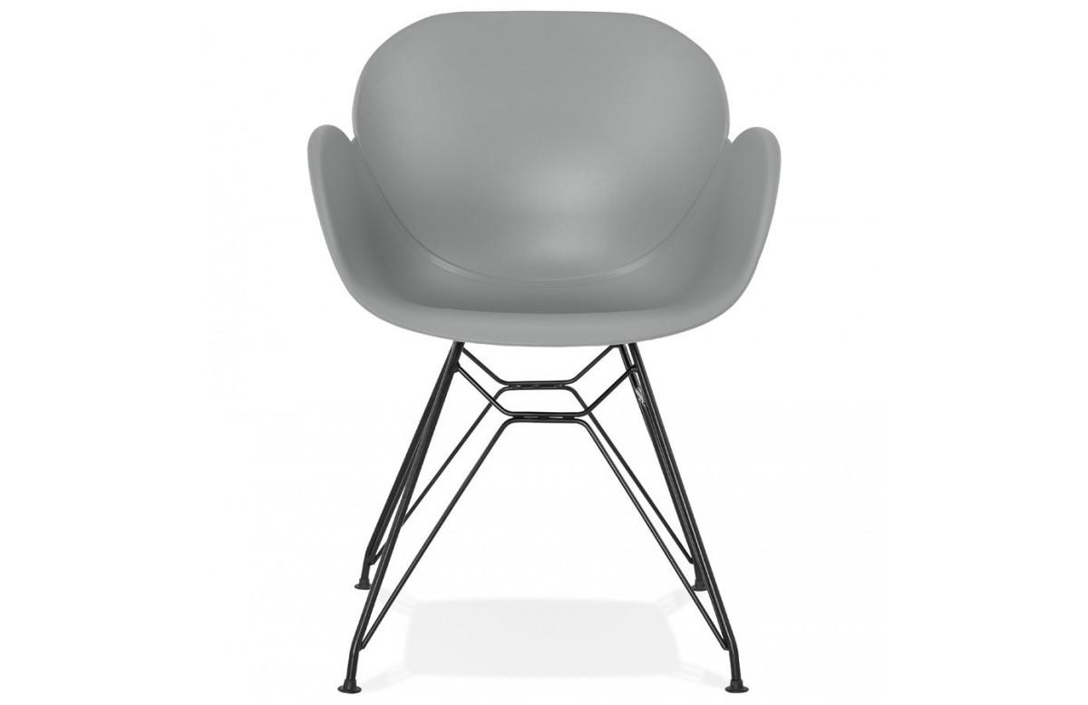 Chaise moderne avec des pieds métalliques - Umela