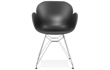 Chaise au design sobre de couleur noire - Chipie