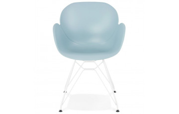 Chaise en polypropylène et pieds en métal - Provoc