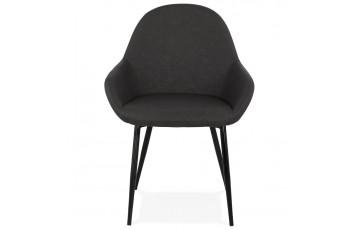 Fauteuil noir avec assise bien rembourrée - Gra