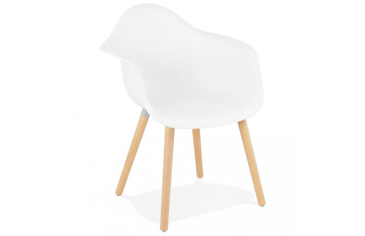 Fauteuil blanc assise en polypropylene - Cloud