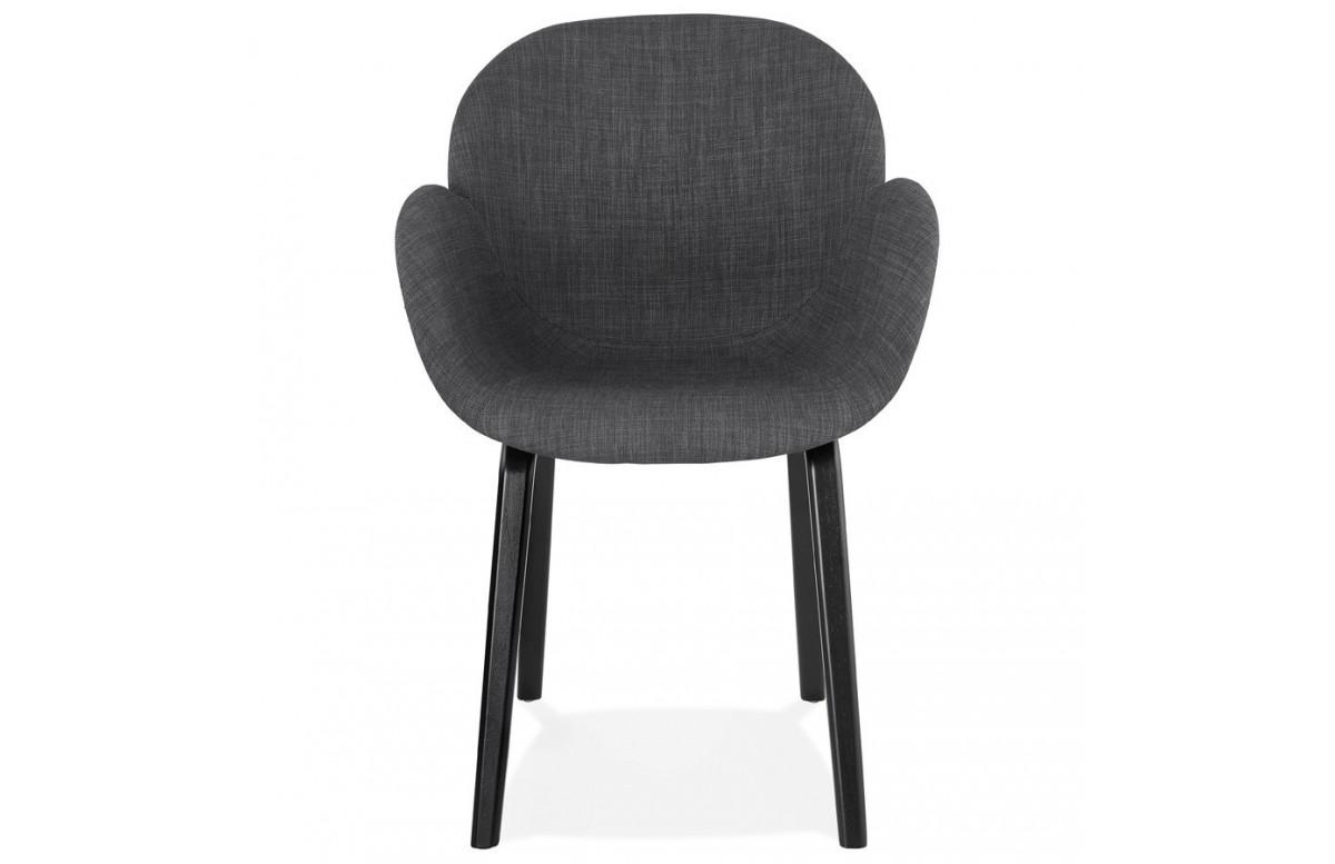 Fauteuil noir assise et dossier enveloppants - Elegans