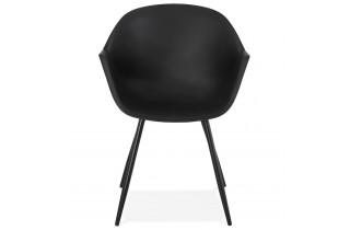Fauteuil noir design scandinave - STILETO