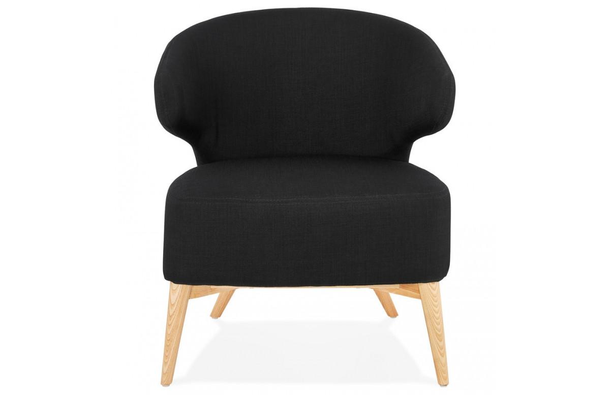 Fauteuil enveloppant de couleur noire - Missy