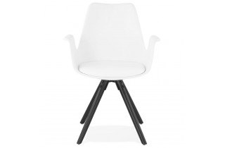 Chaise blanche design moderne - Skanor