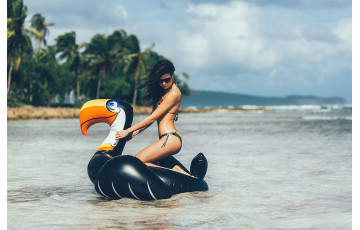 Bouée gonflable XXL Toucan - Tiki