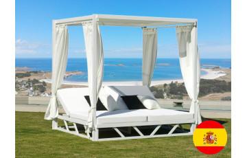 Balinaise bains de soleil double blanche Hevea