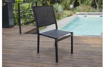 Chaise en aluminium et textilène