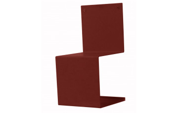 Chaise design rouge DELORM