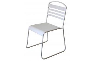 Chaise design blanche DELORM