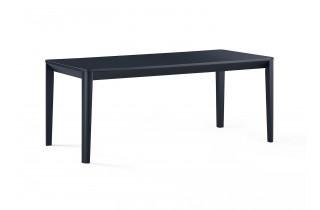 Table salle à manger noire 6 personnes DELORM
