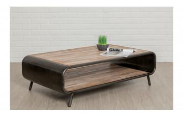 Table basse en bois brut DELORM