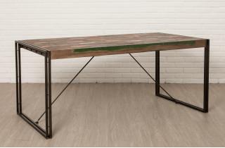 Table salle à manger en bois recyclé 6 personnes DELORM