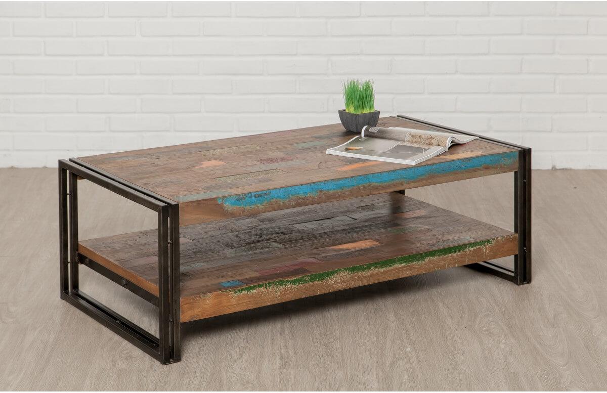 Table basse en bois recyclé DELORM