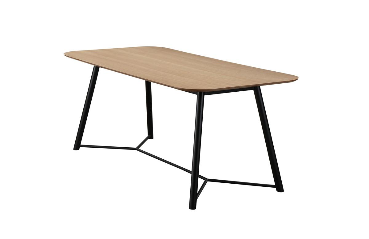 Table salle à manger en chêne clair 6 personnes DELORM