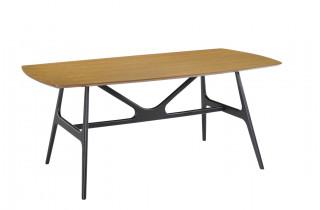 Table salle à manger en chêne naturel 6 personnes DELORM